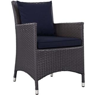 Convene Dining Outdoor Patio Armchair in Espresso Navy