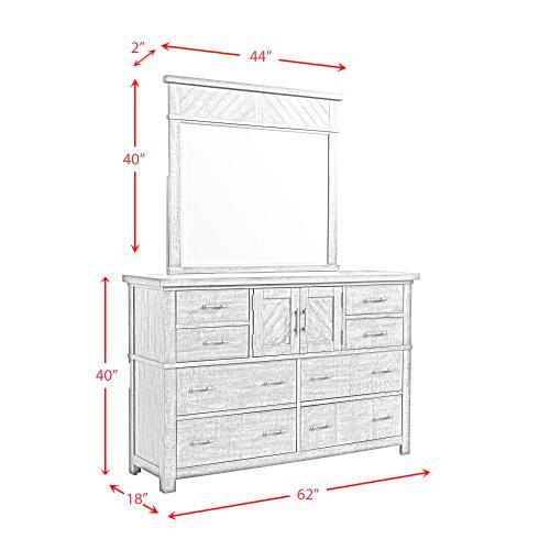 Elements - Jax Dresser & Mirror Set
