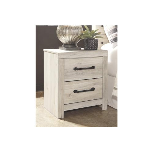 Cambeck Two Drawer Night Stand Whitewash