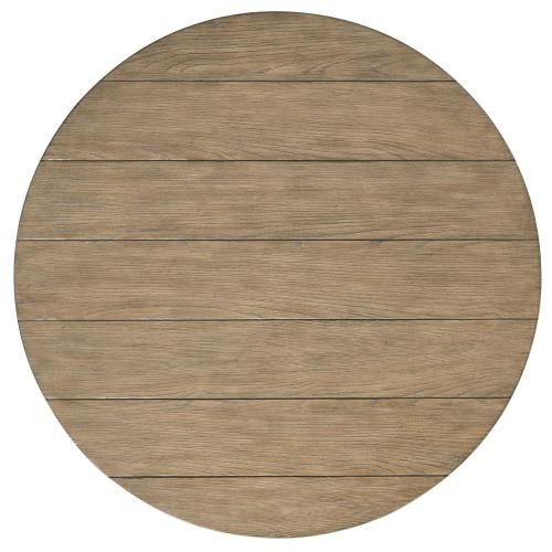 Round Coffee Table - Antique Oak/matte Black Finish