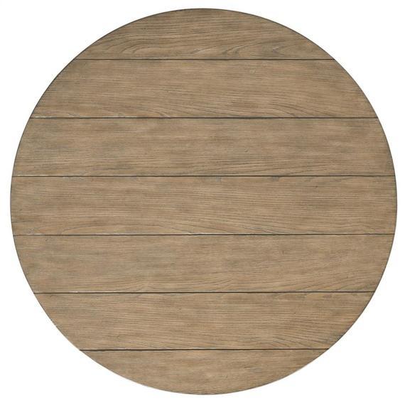 Riverside - Round Coffee Table - Antique Oak/matte Black Finish