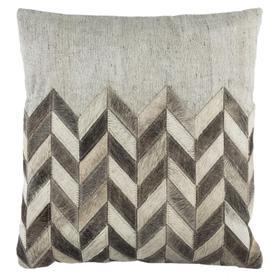 Karson Cowhide Pillow - Grey