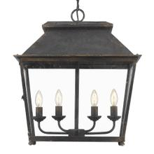 Abingdon 4 Light Pendant,Antique Black Iron