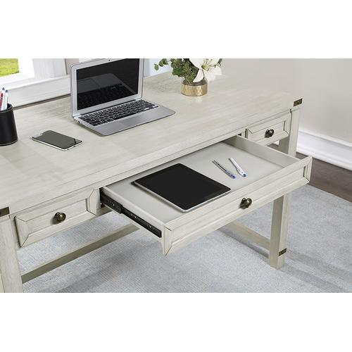 Baton Rouge Home Office Writing Desk In Champagne Oak Finish