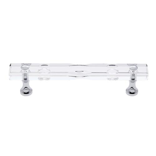 Polished Chrome 96 mm c/c Routered Crystal Pull