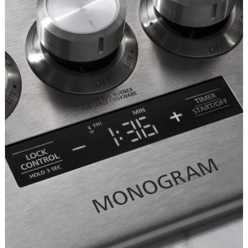 "Monogram 36"" Smart Deep-Recessed Gas Cooktop (Natural Gas)"