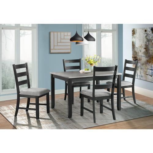 Martin Gray 5PC Dining Set-Table & Four Chairs