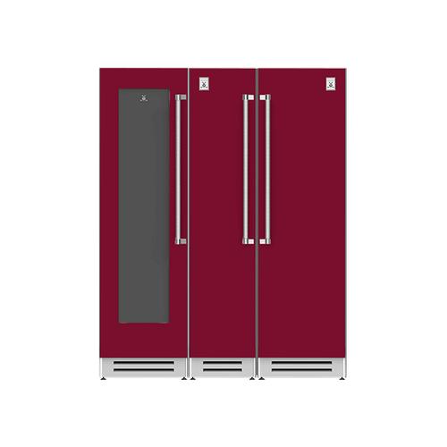 "Hestan - 66"" Wine Cellar (L), Column Freezer and Refrigerator ® Ensemble Refrigeration Suite - Tin-roof"
