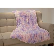 """See Details - Nuevo Cotton Candy Throw by Rug Factory Plus - 50"""" x 60"""" / Cotton Candy"""