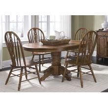 View Product - 5 Piece Pedestal Table Set