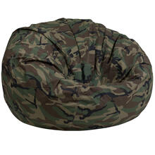 Oversized Camouflage Bean Bag Chair for Kids and Adults
