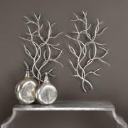 Silver Branches Metal Wall Decor, S/2 Product Image