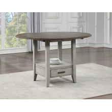 Abacus 59-inch Round Drop-leaf Storage Table