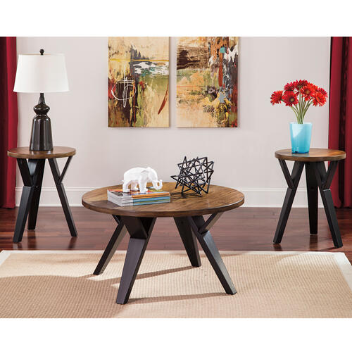 Signature Design by Ashley Ingel 3 Piece Occasional Table Set [FSD-TS3-47TTB-GG]