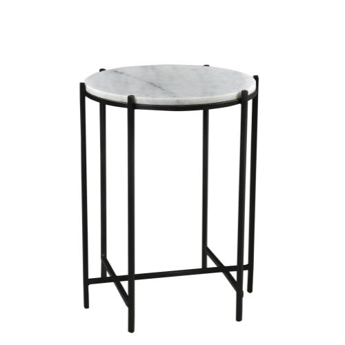 Bengal Manor Iron and Marble Accent Table