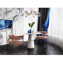 View Product - Astrid Blush Velvet Chair