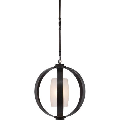 Visual Comfort CHC2530AI E. F. Chapman Metal Banded 1 Light 21 inch Aged Iron Pendant Ceiling Light