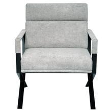 Rusty X Base Accent Chair - Grey / Black