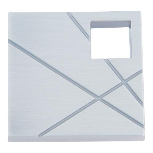Atlas Homewares - Modernist Left Square Knob 1 1/2 Inch - Brushed Nickel