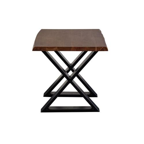 Manzanita Walnut Acacia End Table with Different Bases, VCA-ET24W