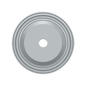 "Deltana - Base Plate for Knobs, 1-1/2"" Diam. - Brushed Chrome"
