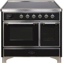 40 Inch Glossy Black Electric Freestanding Range