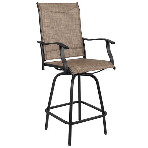 Flash Furniture - Outdoor Stool - 30 inch Patio Bar Stool \/ Garden Chair, Brown (Set of 2)