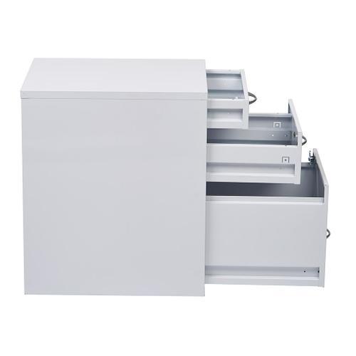 """22"""" Pencil, Box, Storage File Cabinet In White Finish"""