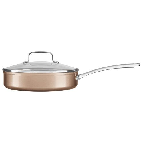 3.3 Quart Hard Anodized Non-Stick Saucepan with lid - Toffee Delight