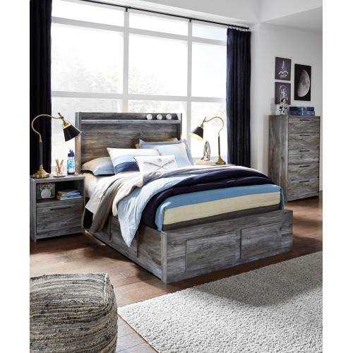 Baystorm Full Panel Bed With 4 Storage Drawers