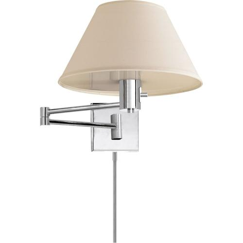 Visual Comfort 92000DPN-L Studio Classic 25 inch 75 watt Polished Nickel Swing-Arm Wall Light in Linen