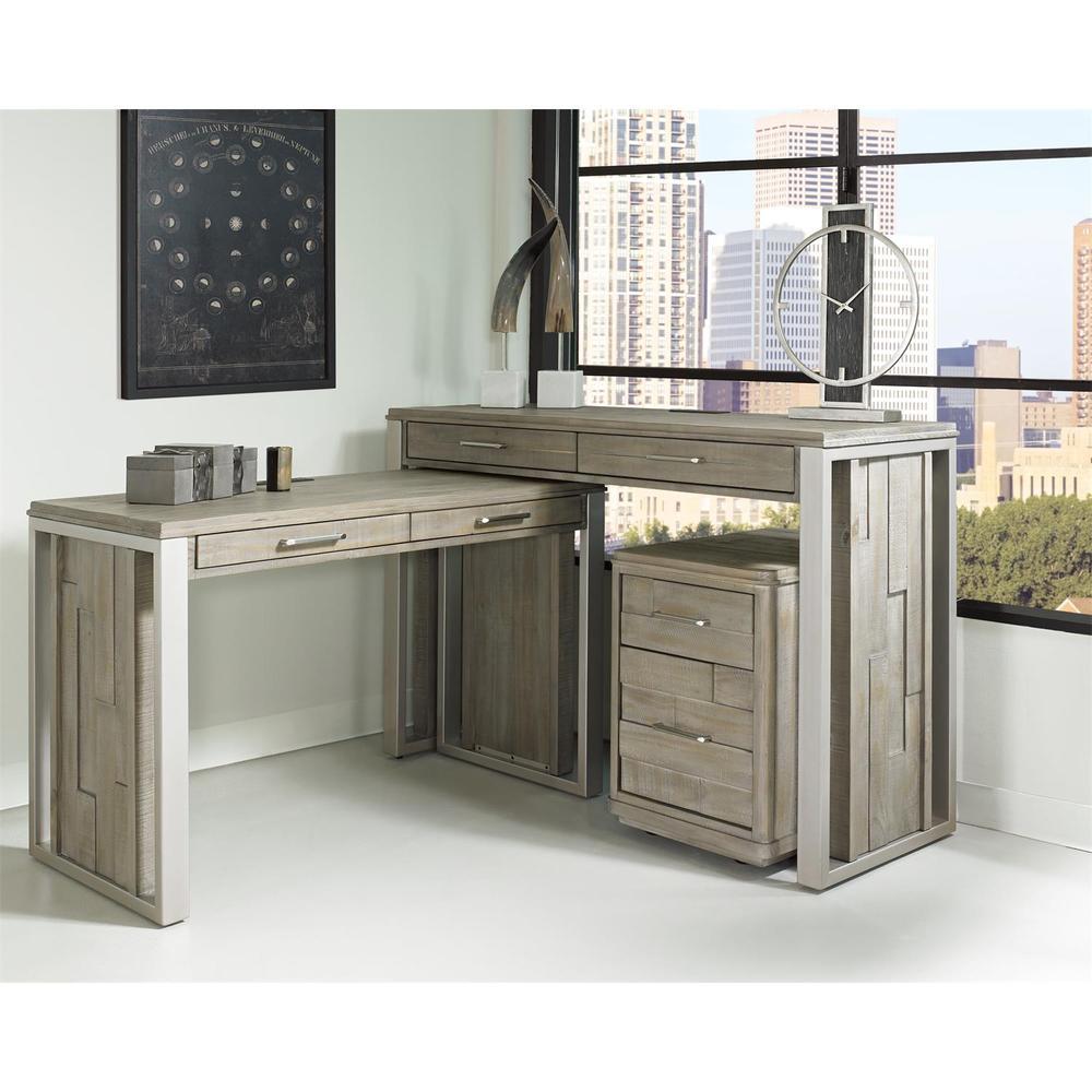"See Details - Intrigue - 36"" Nesting Desk - Hazelwood Finish"