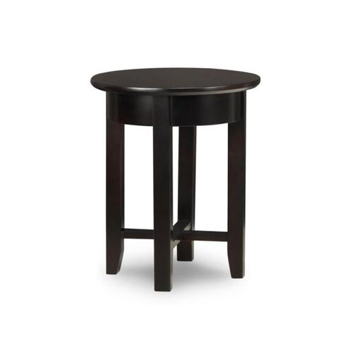 - Demilune Round Chair Side Table with Shelf