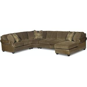 Bradington Young Warner LAF Stationary Loveseat 8-Way Tie 220-57