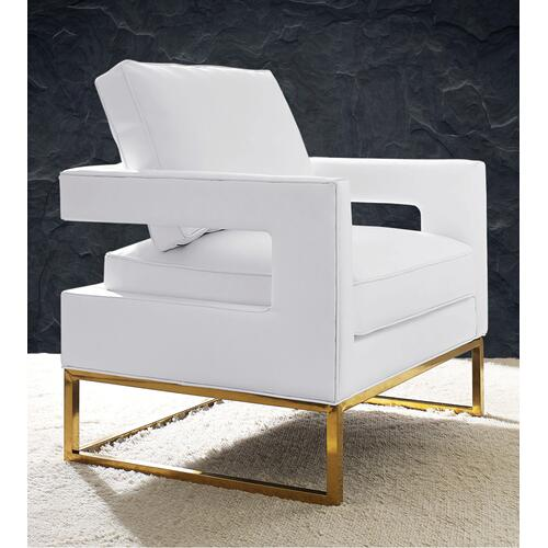 Avery White Leather Chair
