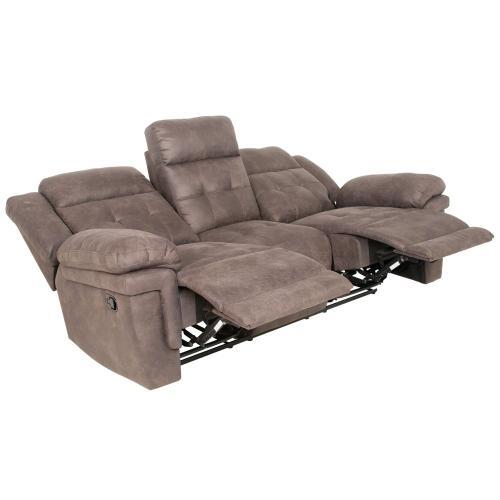 Anastasia Manual Reclining Sofa, Grey