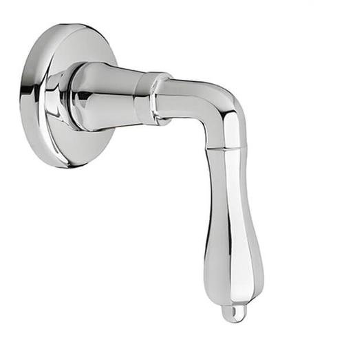 Dxv - Ashbee 1/2 Inch or 3/4 Inch Wall Valve Trim with Lever Handle - Polished Chrome