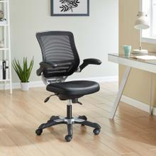 Edge Vinyl Office Chair in Black