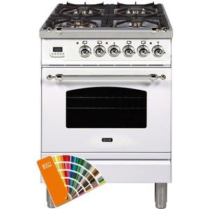 Product Image - Nostalgie 24 Inch Dual Fuel Natural Gas Freestanding Range in Custom RAL Color with Chrome Trim