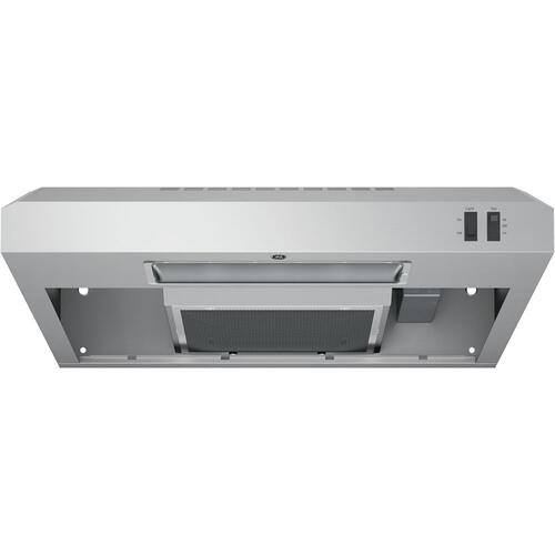 "GE 24"" 2 Speed Under the Cabinet Vent Hood Stainless Steel JVX3240SJSSC"