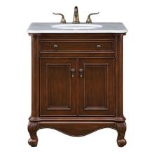 30 In. Single Bathroom Vanity Set In Teak Color