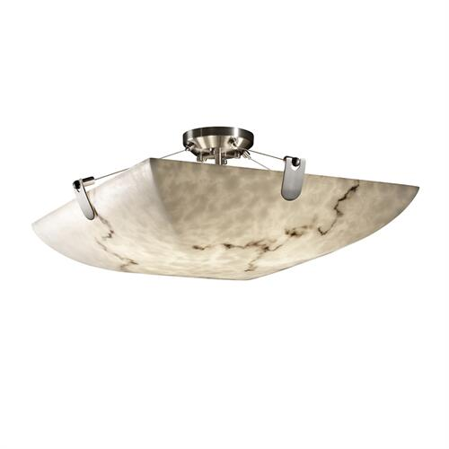 "18"" Semi-Flush Bowl w/ U-Clips"