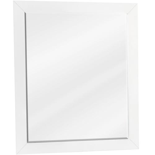 "22"" x 28"" White mirror with beveled glass"