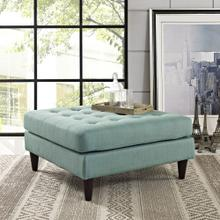 See Details - Empress Upholstered Fabric Large Ottoman in Laguna