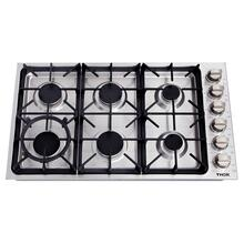 36 Inch Professional Drop-in Gas Cooktop With Six Burners In Stainless Steel