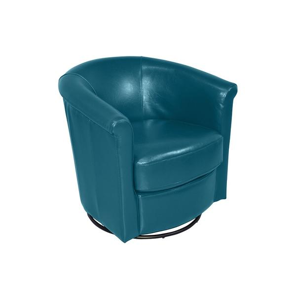 See Details - Marvel Teal Blue Swivel Accent Chair, AC213