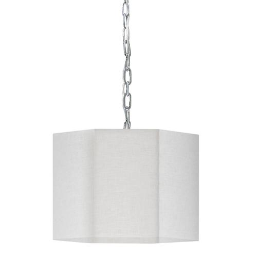 Product Image - 1lt Pendant, PC W/ Wh/clr Shade