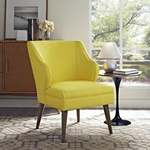Swell Upholstered Fabric Armchair in Sunny
