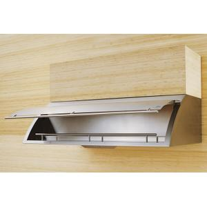 "48"" Cheng Design Cache Under Cabinet Hood with Internal Storage - Stainless Steel"