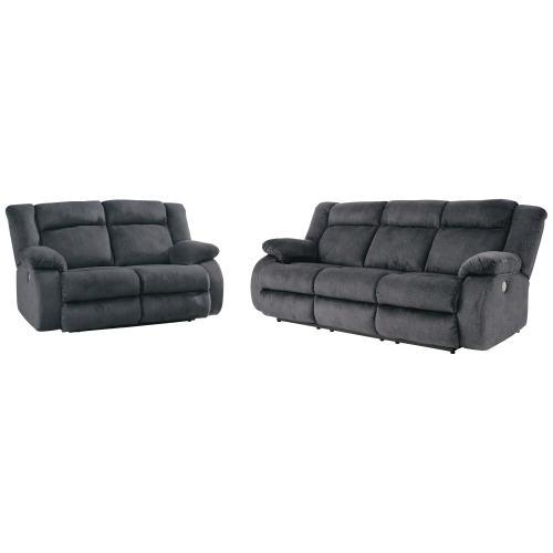 Ashley Furniture - Burkner Power Reclining Sofa and Loveseat